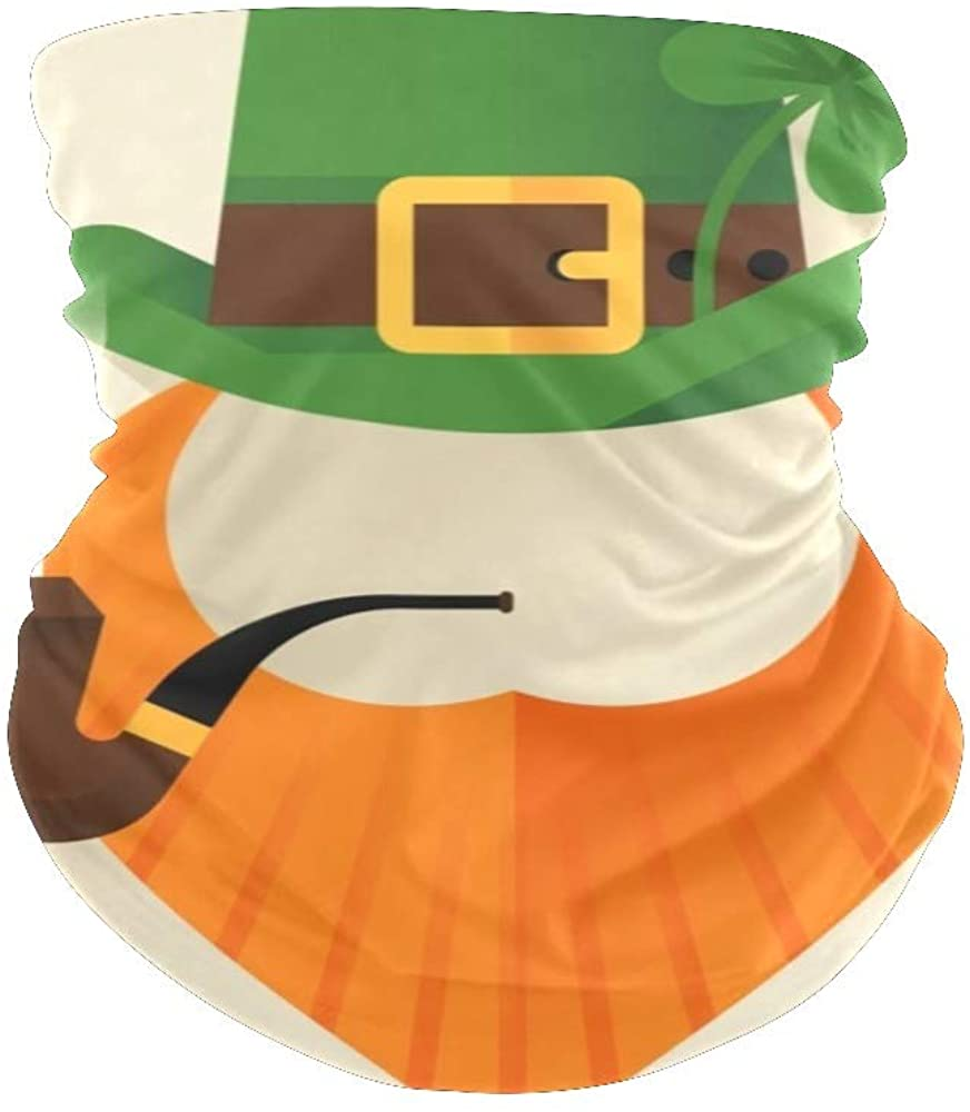 Balaclavas Face Mask Scarf Bandana Saint Patrick's Day Leaves Neck Gaiters for Men Women