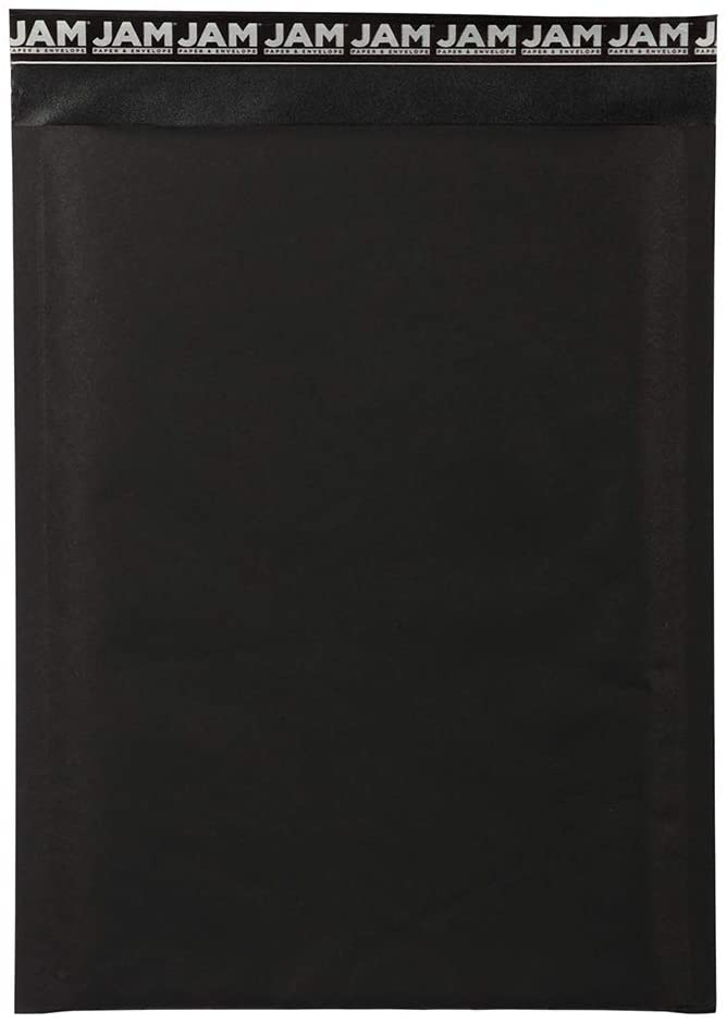 JAM PAPER Bubble Lite Padded Mailers - 9 x 12 - Black Kraft - 25/Pack