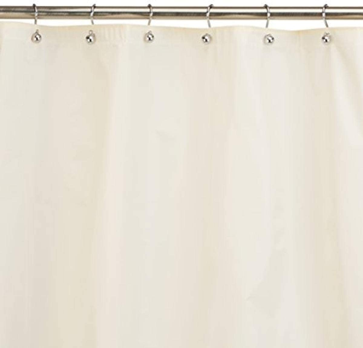 Carnation Home Fashions 10-Gauge PEVA 54 by 78-Inch Shower Curtain Liner, Stall Size, Ivory