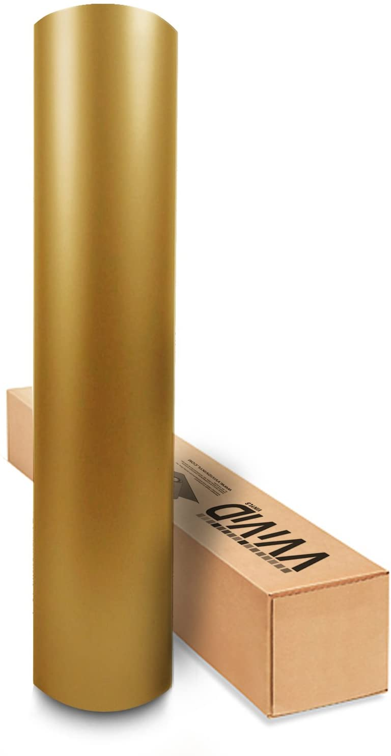 VViViD Matte Metallic Pearl Gold Vinyl Wrap Roll with Air Release Technology (10ft x 5ft)