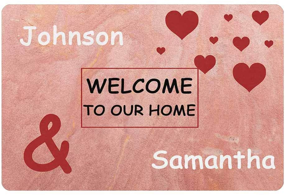 MyPhotoSwimsuits Custom Your Name Funny Doormat 24