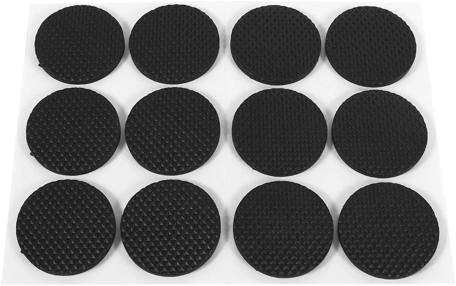Nikou Furniture Pads - Non Slip Furniture Grippers Felt Pads Rubber Feet Furniture Floor Protectors Rubber Stoppers for Furniture,12Pcs