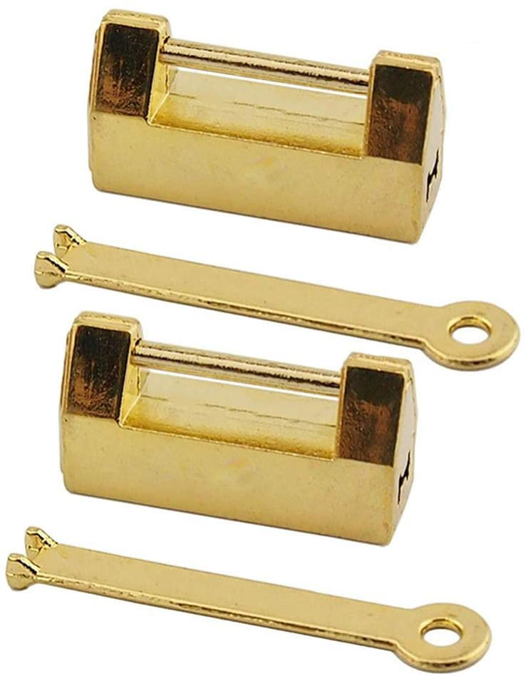 IMIKEYA 2PCS Vintage Lock Decorative Lock with Key for Jewelry Box Drawer Wooden Case