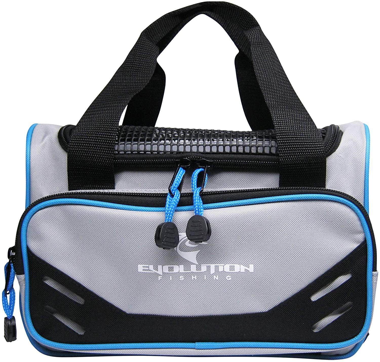 Evolution Fishing 3600 Fishing Tackle Bag Grey Blue Black Tackle Box Storage 31006 Lure Management