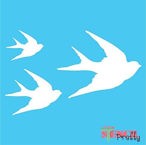 Swallow Bird Stencil - DIY Template-XL (23
