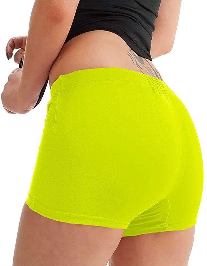 Womens Plain Stretch Elasticated Waist hot Pants Ladies Dance Gym Wear Shorts