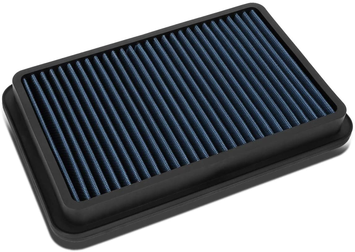 Blue Washable Drop-In Air Filter Panel Replacement for 92-02 Toyota Corolla/95-02 Mazda Millenia/98-99 Chevy Prizm