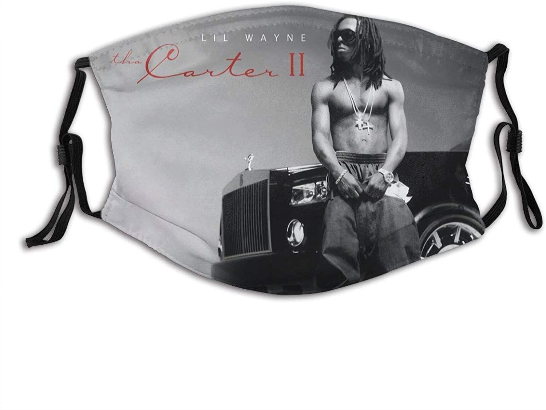 Lil Wayne Unisex Windproof Dustproof Filter Face Mask Reusable Balaclava Black