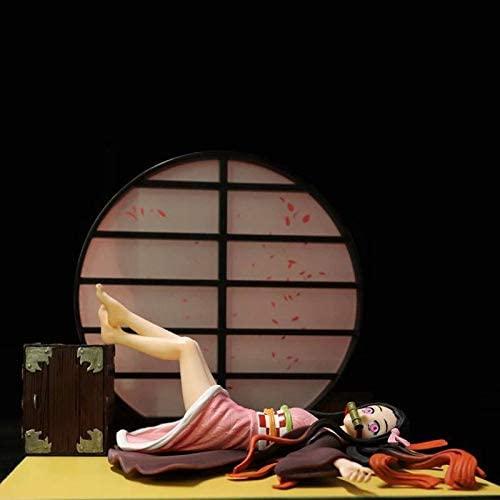 HANEUL LLC KR 17cm Demon Slayer Kimetsu No Yaiba Kamado Nezuko Action Figure Sleeping Kamado Nezuko PVC Model Toys Color with Box Code B259