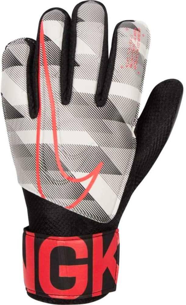 Nike JR Goalkeeper Match Gloves - White-Black-Crimson 5
