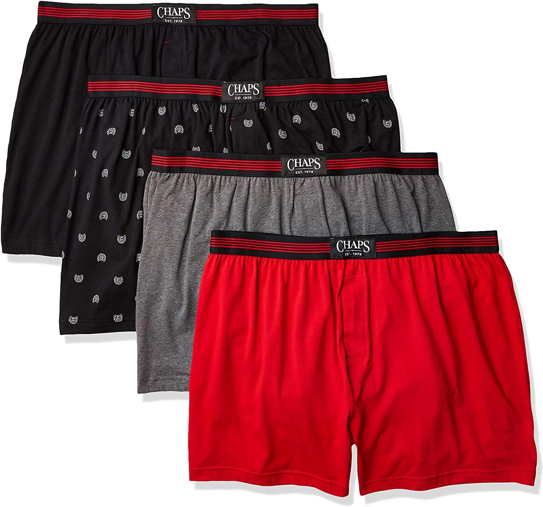 Chaps Underwear Mens Plus Knit Boxer-Extended Size