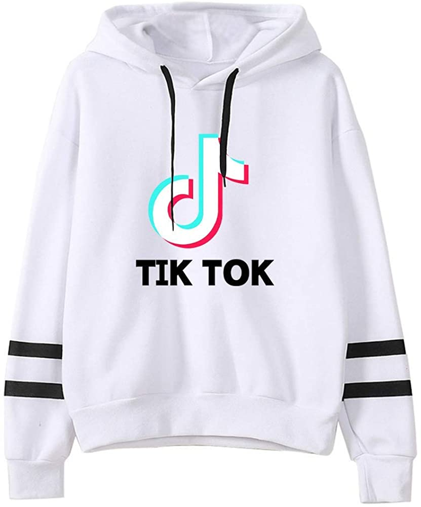 GAOGE Striped Long Sleeve Fashion Hoodie Unisex Couple TIK TOK Pullover Sweatshirt Jumper for Funs