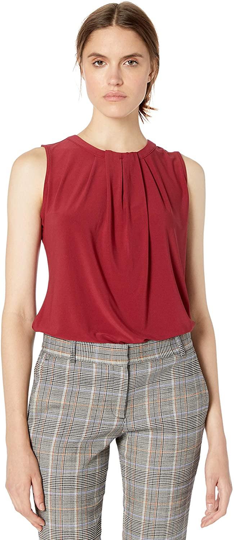 Tommy Hilfiger Women's Pleat Front Sleeveless-Knit Top