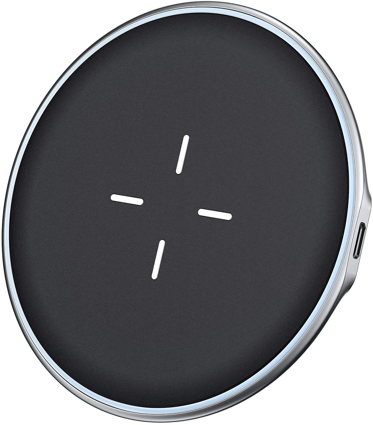 VANMASS Wireless Charger, Zinc Alloy,Rapid Cooling, Fast Wireless Charging Pad, 10W Qi Wireless Charger Compatible with Xs Max/Xs/Xr/X/8/8 Plus, Galaxy S7/S8/S9/S10, 5W for Qi-Enabled Phones (Black)