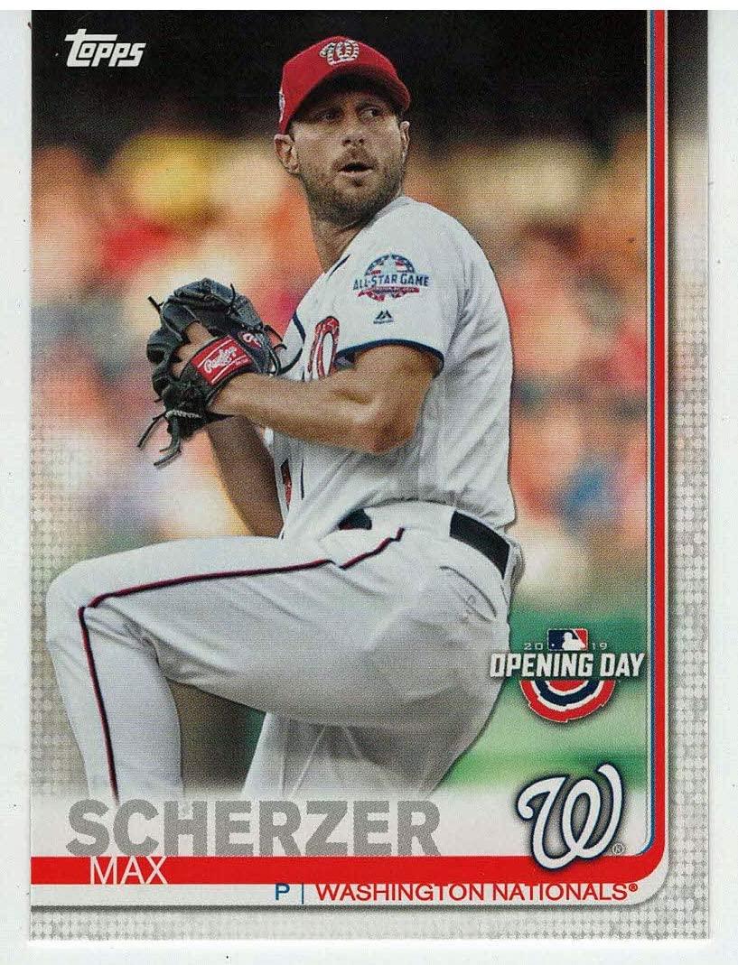 Max Scherzer (Baseball Card) 2019 Topps Opening Day # 183 Mint