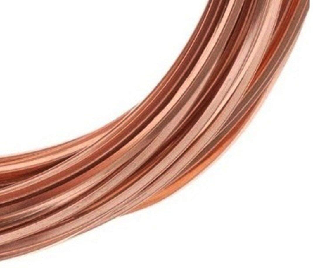Square Copper Wire/Dead Soft (18 Ga - 50 Ft Coil)