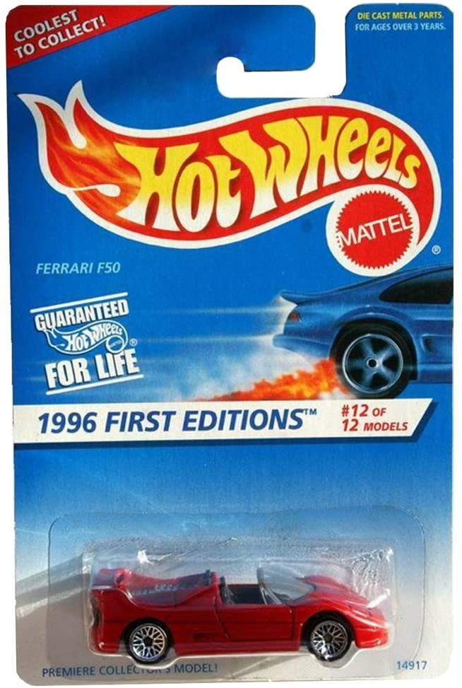 Hot Wheels 1996 -#12 Ferrari F50 Lace China Mint #377 1:64 Scale Collectible Die Cast Car