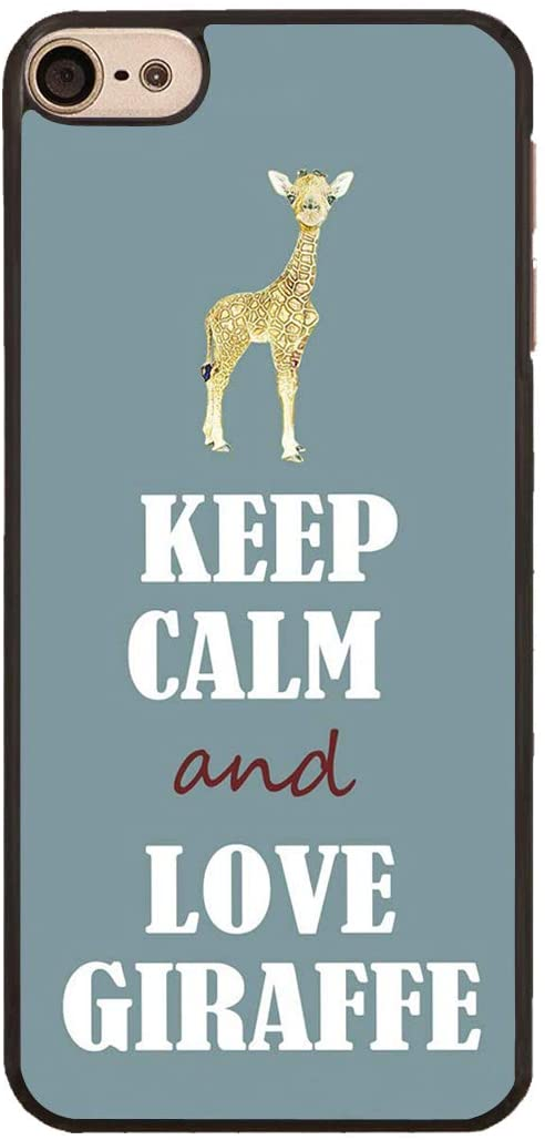 iPod Touch 6 Case,Keep Calm and Love Giraffe Design Slim Impact Resistant PC Hard Shell Protective Case Cover for Apple iPod Touch 6