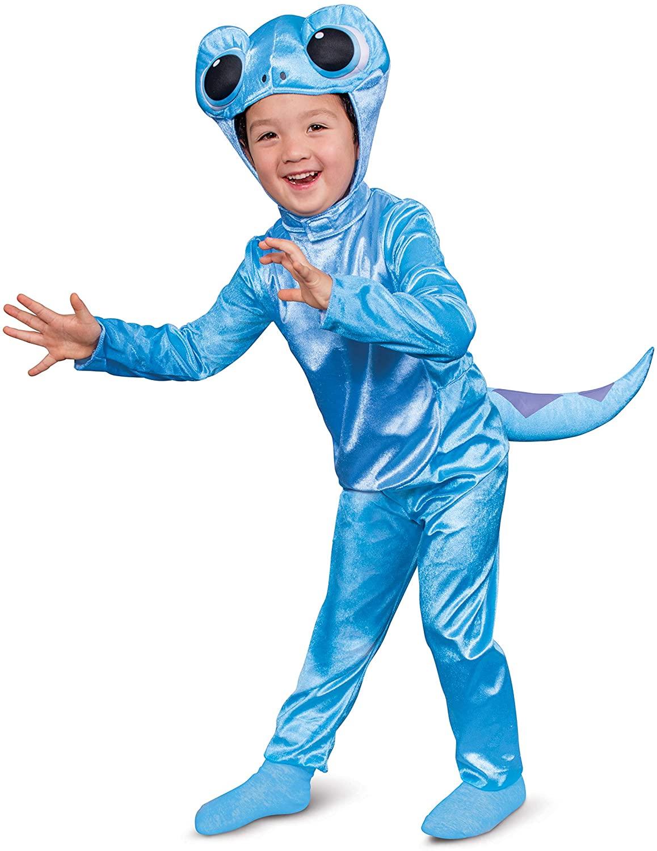 Disguise Disney Frozen 2 Salamander Classic Children's Costume, Blue, Large (4-6)
