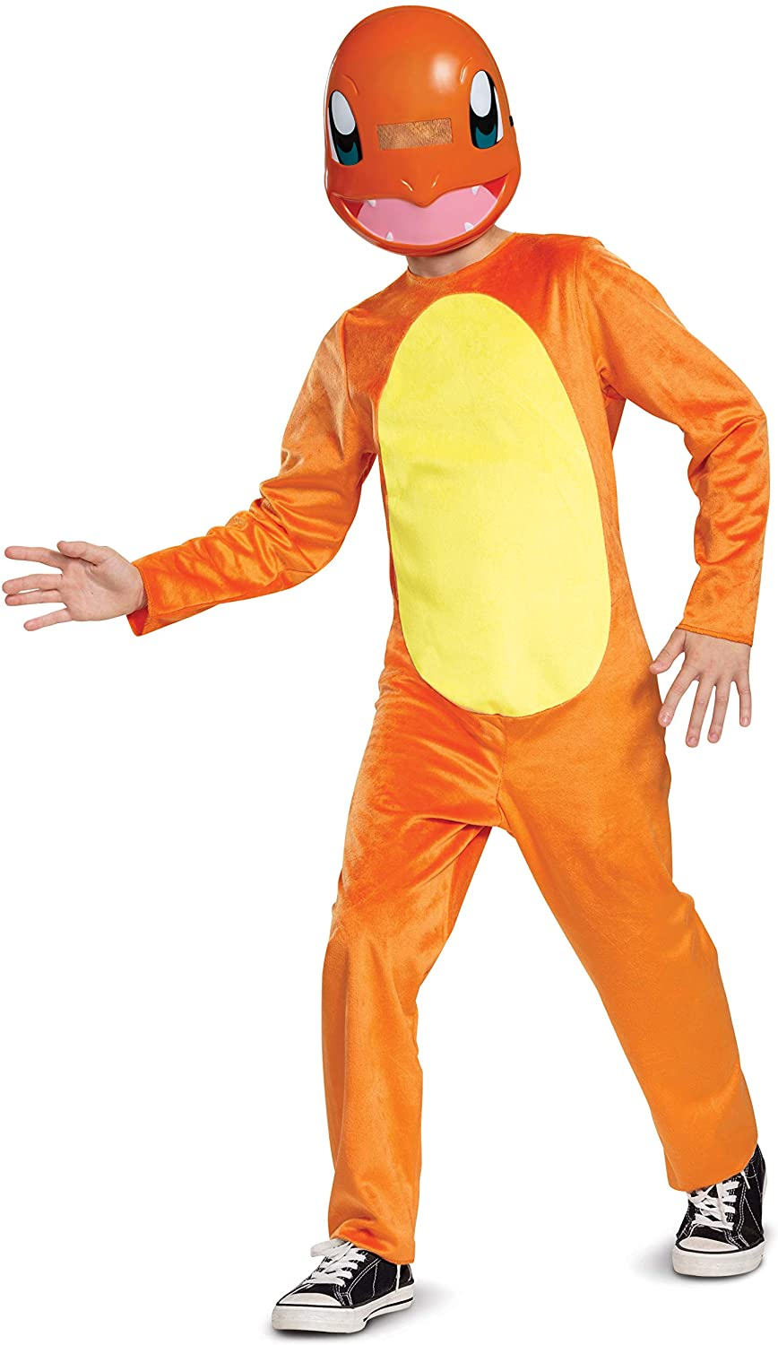 Pokemon Charmander Kids Costume, Children's Classic Character Outfit, Child Size Small (4-6) Orange