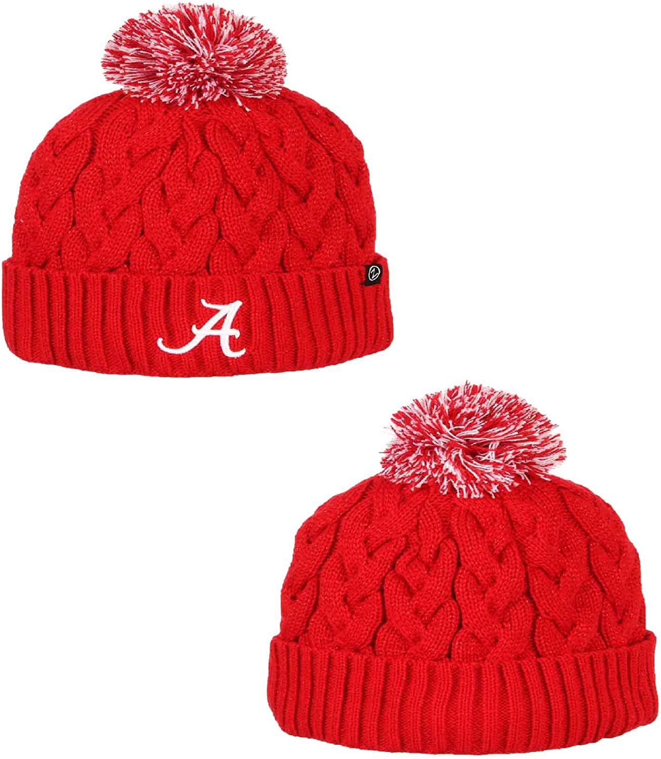Campus Colors Womens NCAA Ultra Soft Sherpa Knit Beanie
