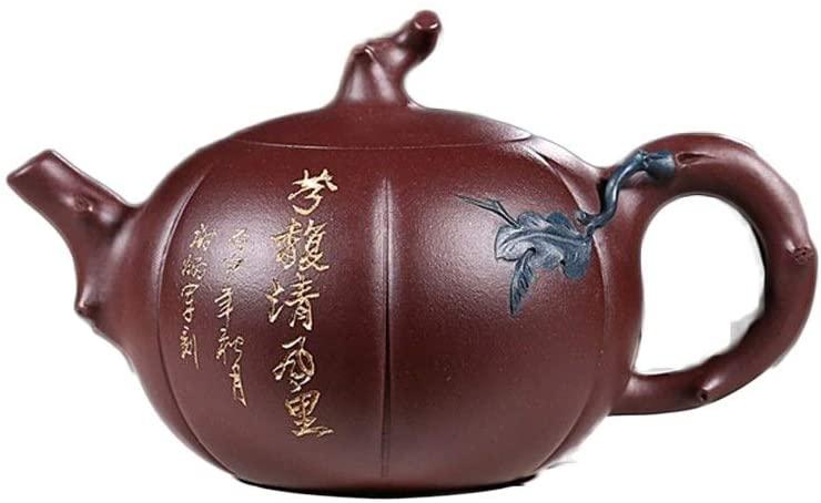 YYFUS Teapot Purple Sand Pot Full Of Yixing Raw Tea cup Purple Pumpkin Double Color Teapot Kung Fu Tea Set (Color : Purple mud)