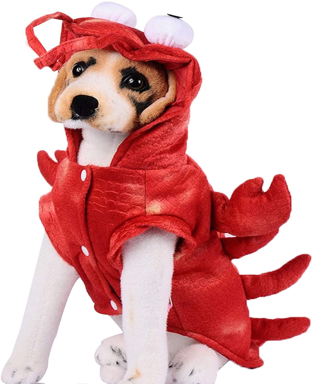 Fishoneion Autumn and Winter Crayfish Cat Dog Clothing Lobster Jacket Costume