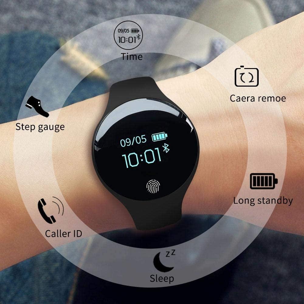 YourWareHouses Sanda Bluetooth Smart Watch for iOS Android Men Women Sport Intelligent Pedometer Fitness Bracelet Watches for iPhone Clock Men (SD01 Black)
