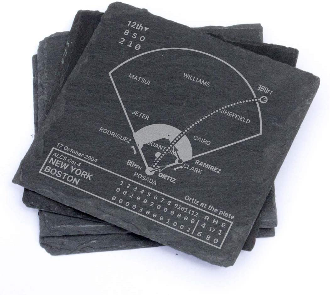 Greatest Red Sox Plays - Slate Coasters (Set of 4)