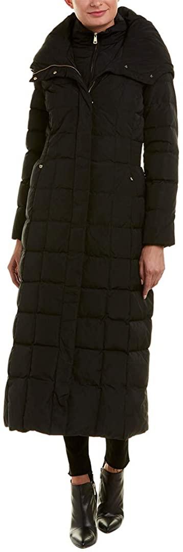 Cole Haan Women's Taffeta Quilted Long Down Coat