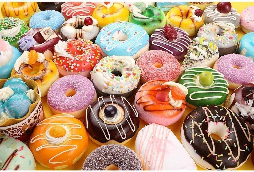 1000 Pieces Puzzles for Adults,Teens, Jigsaw Puzzle for Adults Gourmet Donuts Wood Jigsaw Puzzles,Classic Educational Game