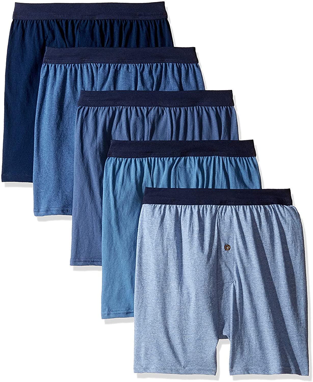 Hanes Men's ComfortSoft Knit Boxers ComfortSoft Waistband 5Pk