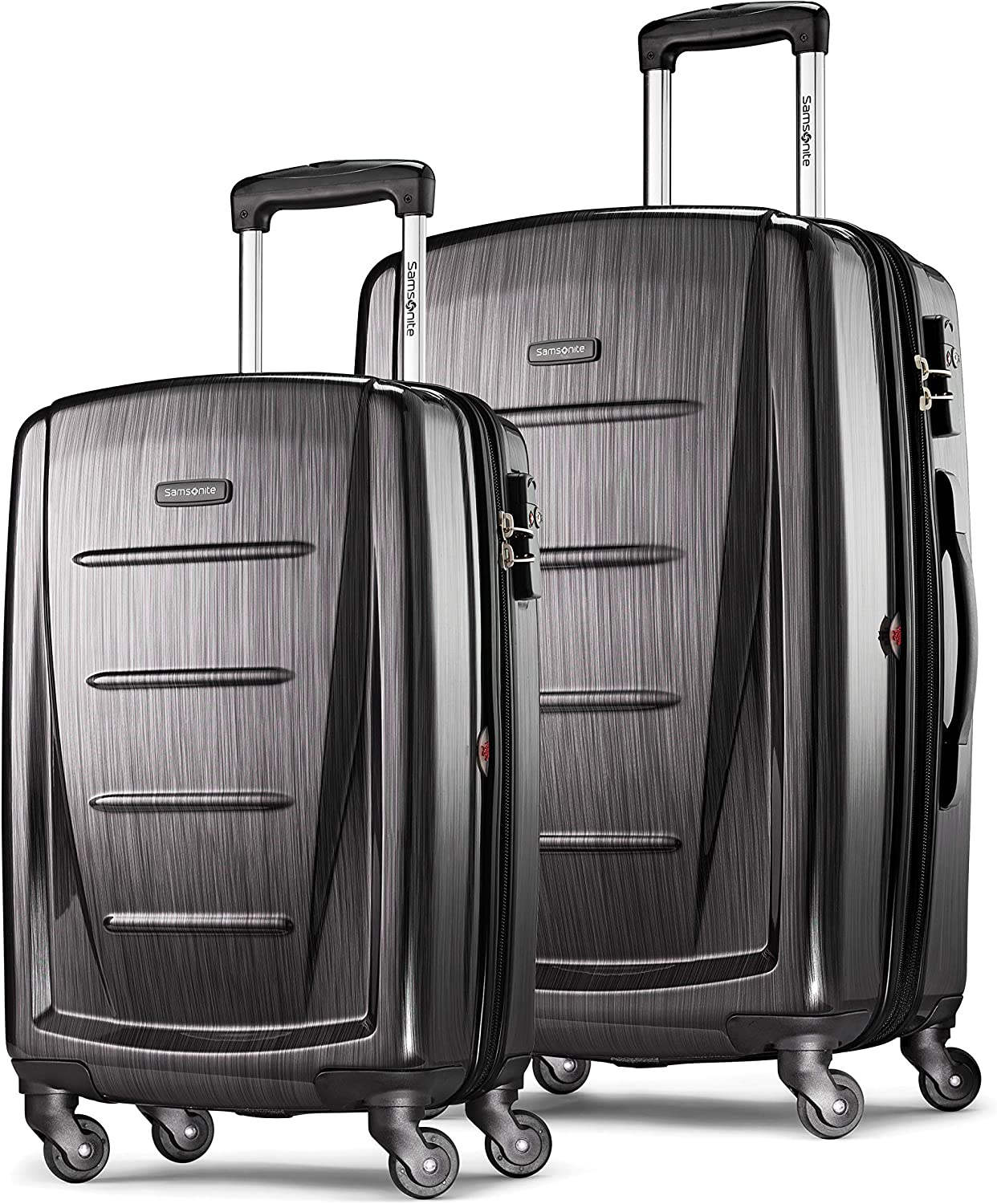 Samsonite Winfield 2 Hardside Expandable Luggage with Spinner Wheels, Charcoal, 2-Piece Set (20/24)