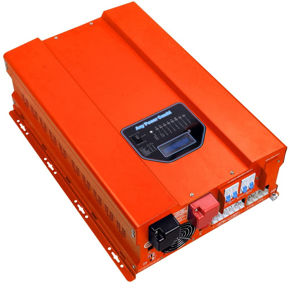 HFV Series ZODORE 10000w Peak 30000w Low Frequency Pure Sine Wave Inverter/ Charger, Built in with 40amp Mppt Solar Charger Controller,DC48v/ AC 110v Converter LED&LCD, Utility/ Inverter /Charger /Transfer SW /Solar Power /AGS All in One!