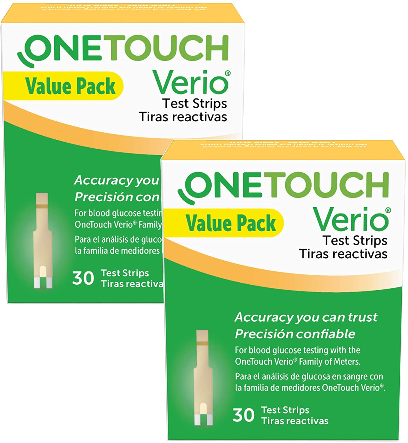 OneTouch Verio Test Strips 30 Count Value Pack - 2 Pack