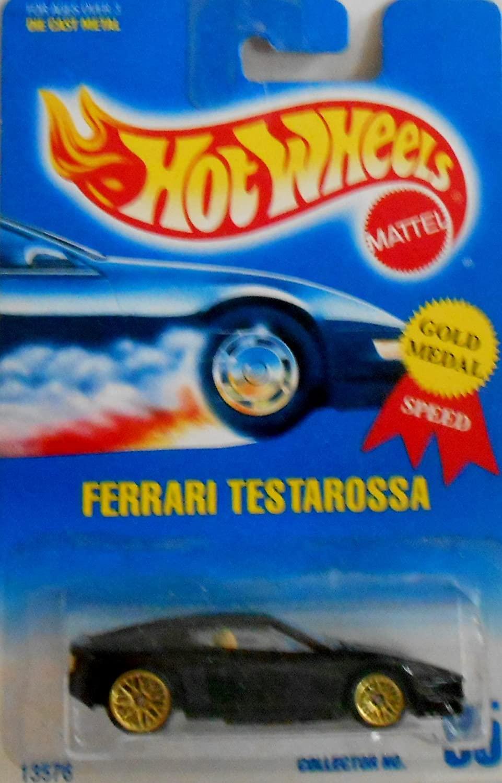 Mattel Hot Wheels 1991 1:64 Scale Black Ferrari Testarossa Die Cast Car Collector #35