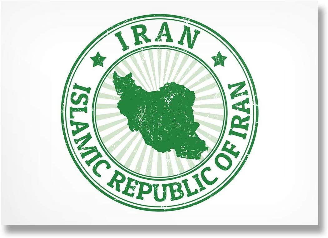 Photograph 6 x 4 - Islamic Republic of Iran Map Travel Art Print 15 X 10 cm (6 X 4 in) 280gsm satin gloss photo paper #5482