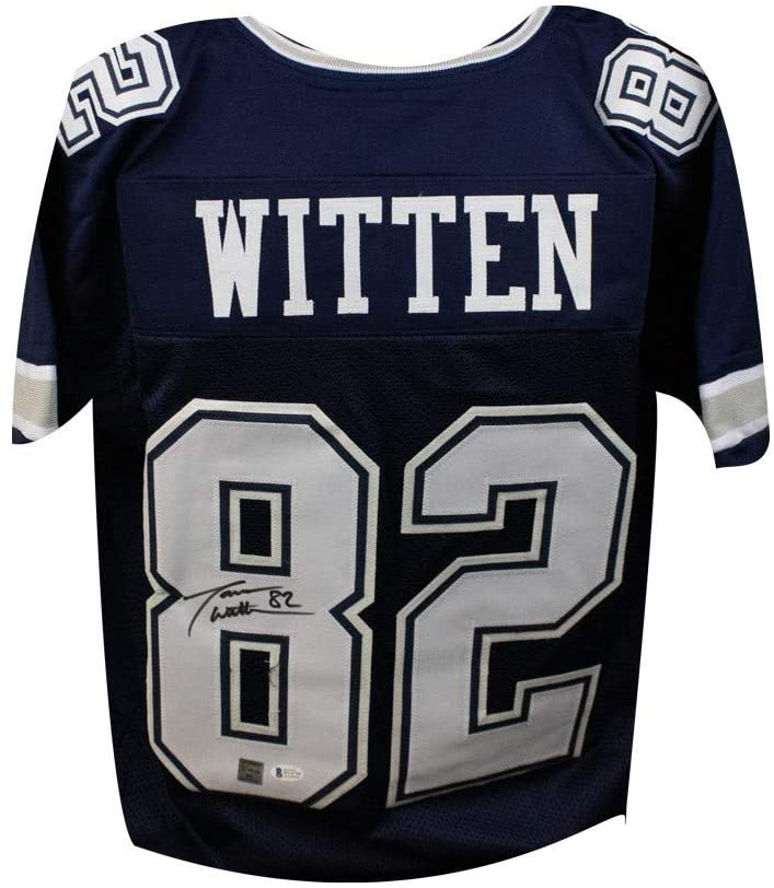 Jason Witten Autographed Dallas Cowboys Blue Custom Football Jersey - BAS COA