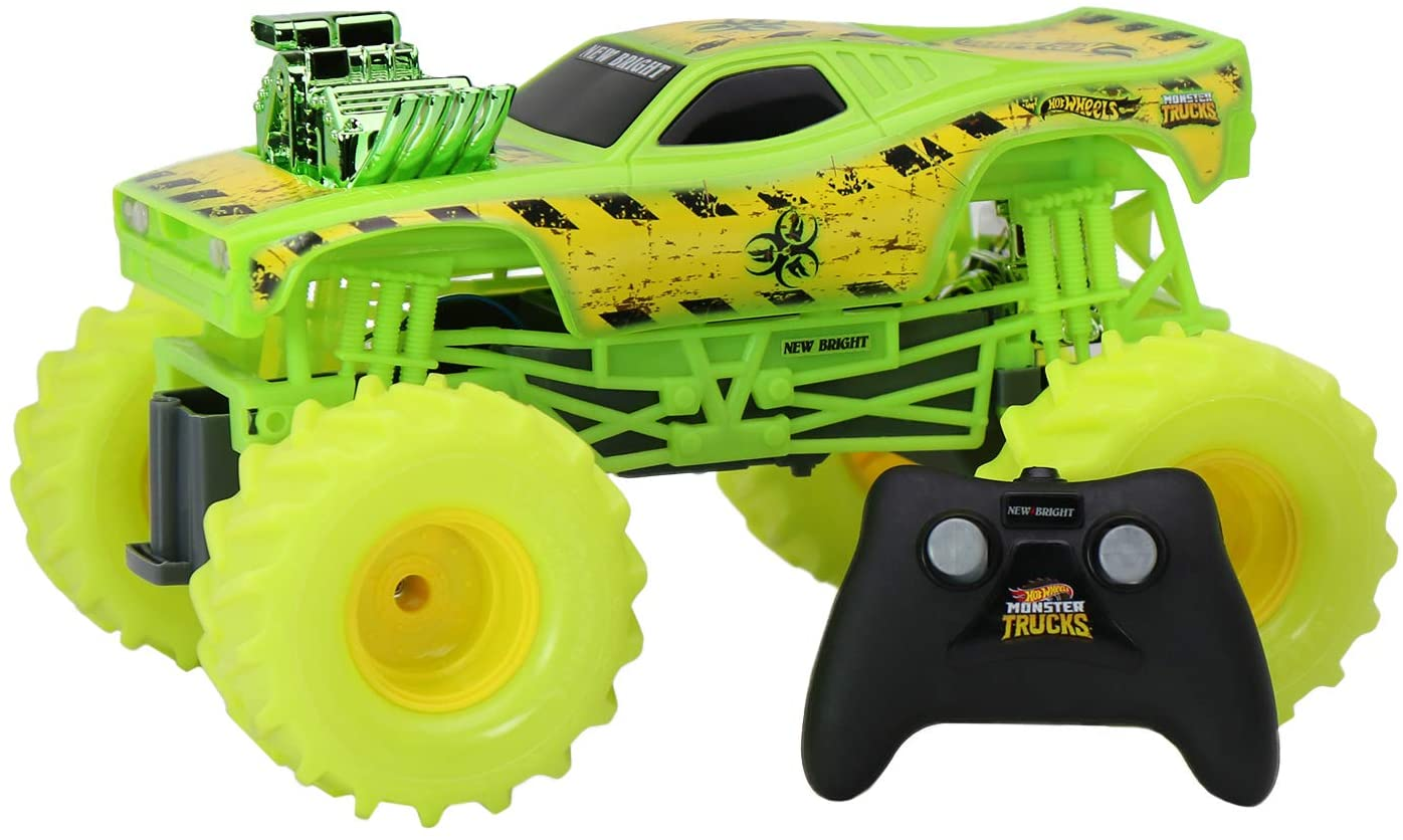 Hot Wheels 1:15 R/C Monster Truck Toxic Rodger Dodger, 61550UR