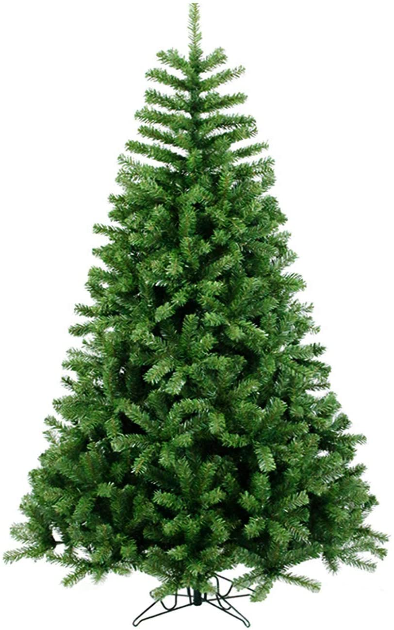 PAREIKO Christmas Tree 6FT Artificial Green Xmas Pine Tree Holiday Decoration for Home Office Party New Year w/Metal Stand and Hinges
