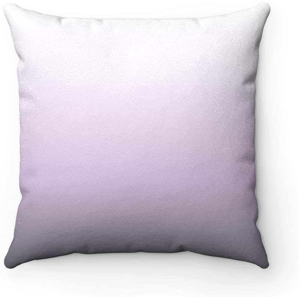 Flowershave357 Lavender Ombre Dorm Home Decor Apartment Square Pillow