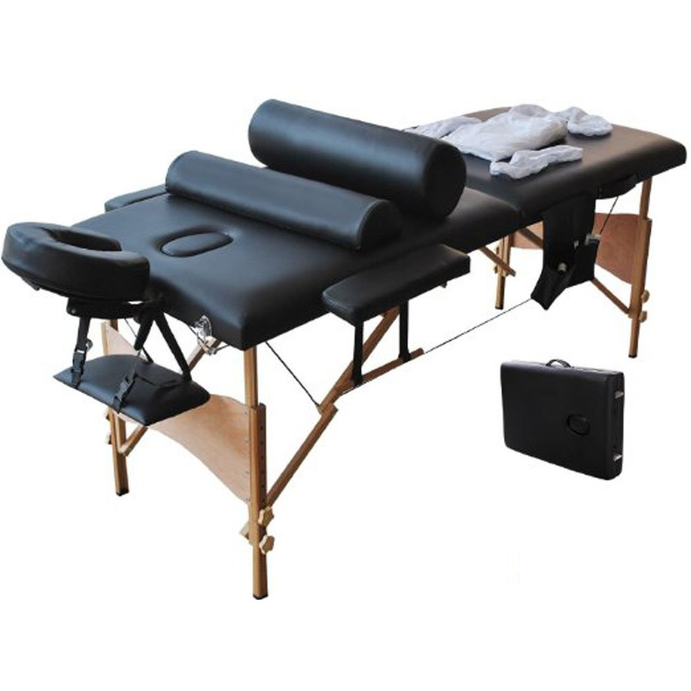 Zebery Massage Table, Portable Massage Bed Spa Bed Adjustable Massage Table 2/3 Folding Massage Bed Spa Bed Facial Cradle Salon Bed With Carry Case