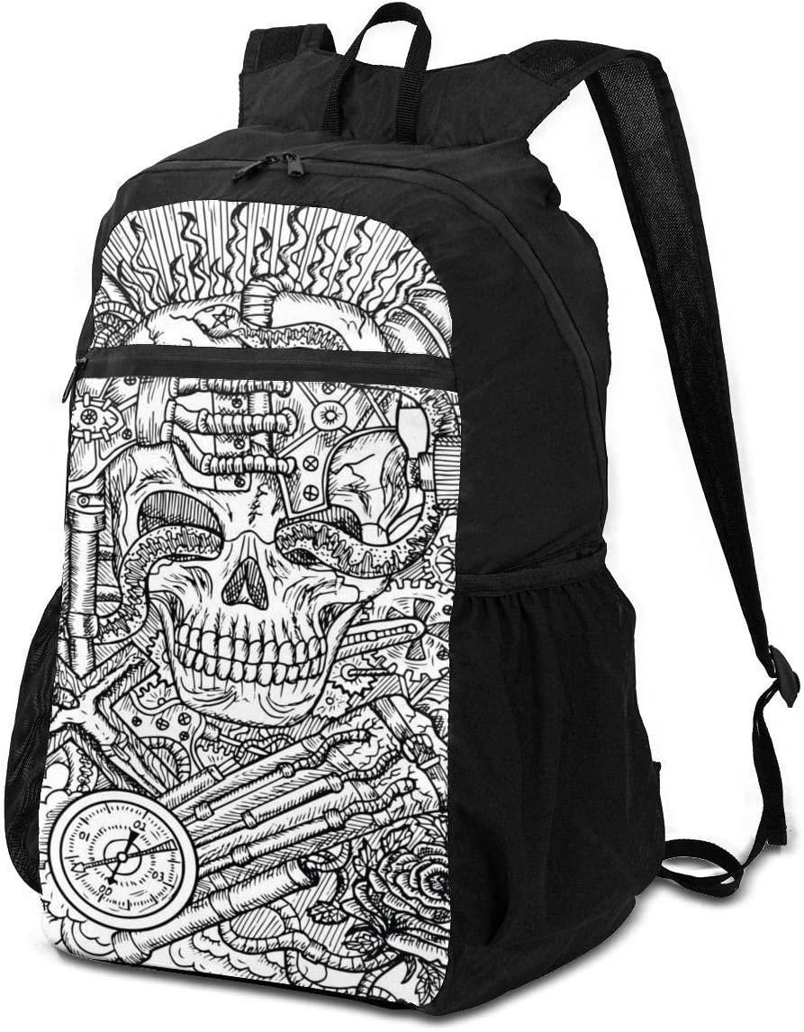 BackpackScary Skull Backpack School Shoulder Backpacks Casual Daypack