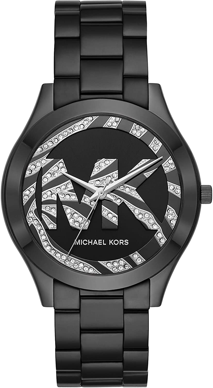 Michael Kors Women's Slim Runway Quartz Watch with Stainless Steel Strap, Black, 20 (Model: MK4562)