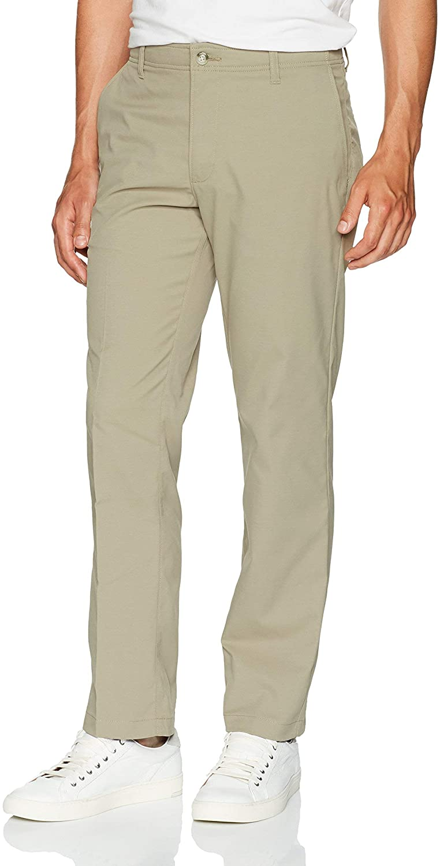 Lee Men's Big-Tall Performance Series Extreme Comfort Refined Pant, Khaki, 48W x 28L