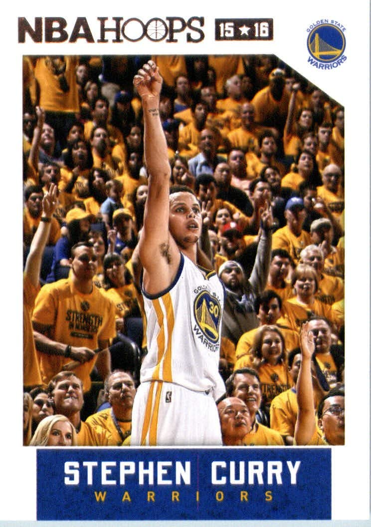 2015-16 Panini Hoops #248 Stephen Curry Basketball Card in Protective Screwdown Display Case