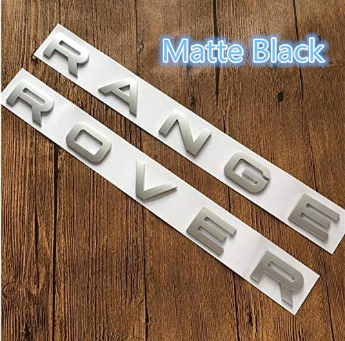 Weekeight Fit for Matte Silver FOR RANGE ROVER LETTERS HOOD TRUNK TAILGATE EMBLEM BADGE NAMEPLATE