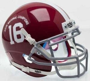 Alabama Crimson Tide 2015 National Champs Officially Licensed XP Authentic Football Helmet