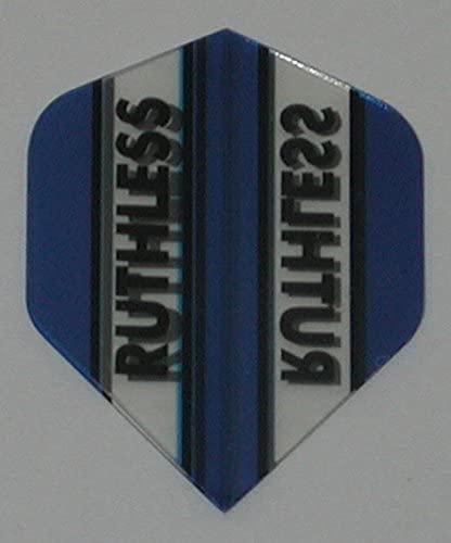 US Darts 1 Set (3 Flights) Xtra Tough (100 Micron) Ruthless Mini Standard Blue Flights