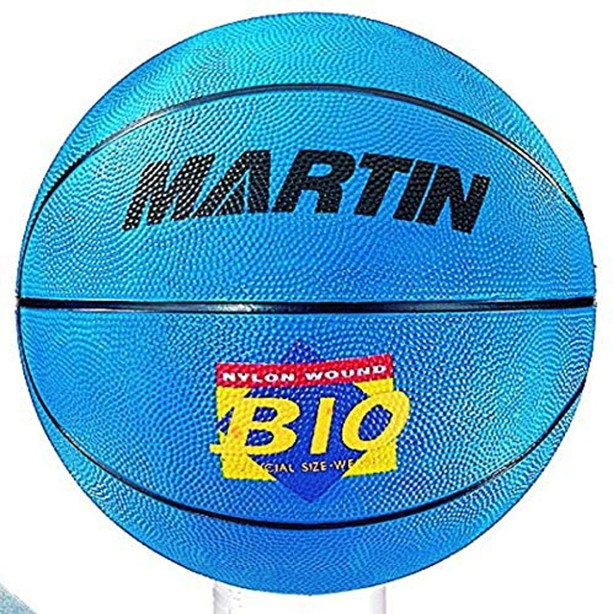 Martin Sports Official Size Rubber Basketball, Blue